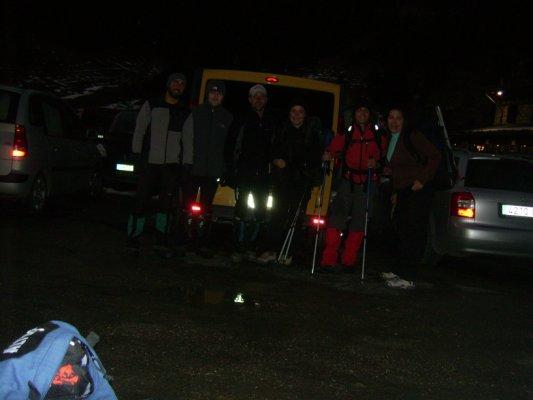 Os Pataricos preparandose para la ascension. Puente de Todos los Santos 2007
